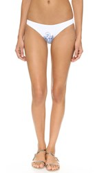 Shoshanna Summer Garden Classic Bottoms White Multi