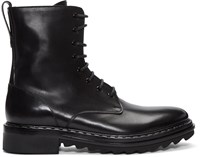 Givenchy Black Leather Lace Up Boots