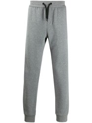 Versace Logo Patch Track Pants Grey