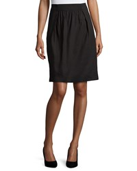 Lafayette 148 New York Janice Pleated Front Skirt Black