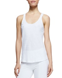 Donna Karan Puckered Cotton Blend Tank Small