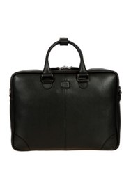 Bric's Varese Business Saffiano Leather Small Briefcase Black