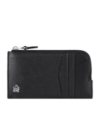 Dunhill Cadogan Leather Zipped Card Holder Unisex Black