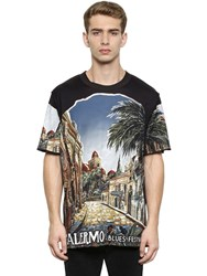 Dolce And Gabbana Palermo Printed Cotton Jersey T Shirt