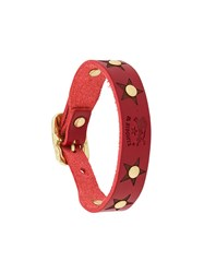 Il Bisonte Studded Bracelet Red