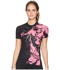 Pearl Izumi Select Escape Short Sleeve Graphic Jersey Black Screaming Pink Mineral Clothing Multi