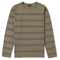 A.P.C. Long Sleeve Soldier Tee Green