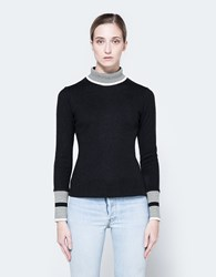 Frankie Jersey Rib Turtleneck In Black