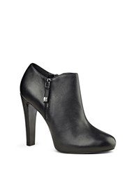 Nine West Binnie Leather Ankle Length Booties Black
