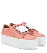 Acne Studios Exclusive To Mytheresa.Com Drihanna Nappa Leather Platform Sneakers Pink