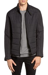 Marc New York Men's By Andrew Water Resistant Quilted Moto Jacket