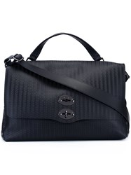 Zanellato Embossed Large Tote Black
