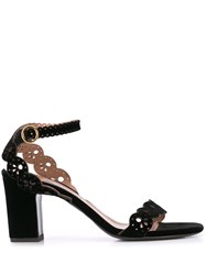 Tabitha Simmons Bobbin Cut Out Sandals Black