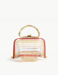 Cult Gaia Lilleth Collapsible Acrylic Clutch Sand