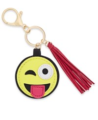 Macy's Inspired Life Silly Face Emoji And Tassel Keychain Pink