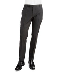 Strellson James Flat Front Slacks Grey
