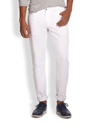 Ag Jeans Graduate Tailored Fit Jeans Black Bird White