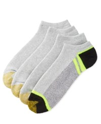 Gold Toe Men's Socks Athletic Cushion No Show 4 Pack Asst 12