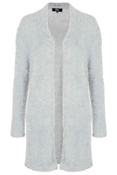 Save Me Grey Fluffy Long Cardigan By Goldie