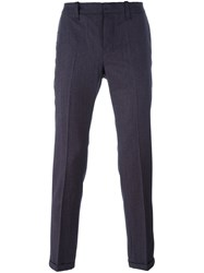 Dondup Plaid 'Gaucho' Tapered Trousers Pink And Purple