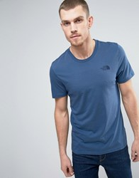 The North Face Simple Dome T Shirt In Navy Urbnnavy Tnfwht