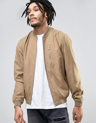 Esprit Lightweight Bomber Jacket With Chest Pocket 270 Tan