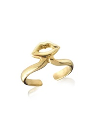 Bernard Delettrez Bronze Midi Ring W Mouth Gold