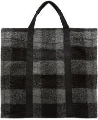Etoile Isabel Marant Grey Plaid Wool Rusty Tote
