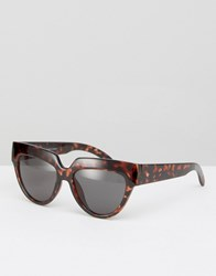 Cheap Monday Laylow Cat Eye Sunglasses Island Turtle Brown