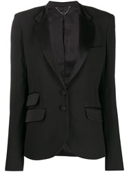 Paco Rabanne Fitted Single Breasted Blazer Black