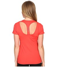 Lole Carys Top Ruby Women's Short Sleeve Pullover Red