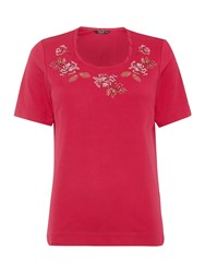 Tigi Short Sleeve Twist Neck Top Pink