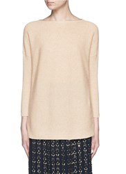 J.Crew Collection Cashmere Boat Neck Tunic Neutral