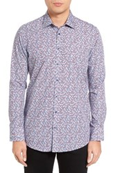 Sand Men's Geometric Print Sport Shirt