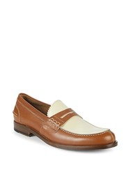 Canali Leather Penny Loafers Brown