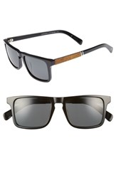 Shwood 'Govy 2' 52Mm Polarized Sunglasses Black Maple Grey Black Maple Grey