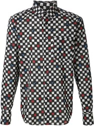 Naked And Famous Naked And Famous Printed Shirt Black