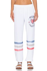 Lauren Moshi Boxing Color Tanzy Sweatpant White