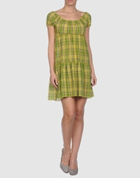Rebecca Short Dresses Acid Green