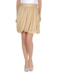 Ralph Lauren Black Label Knee Length Skirts Beige