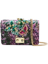 Gedebe Embellished Foldover Crossbody Bag Pink And Purple