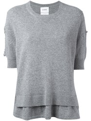 Barrie Knitted Top Grey