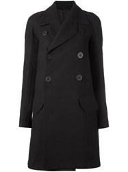 Rick Owens Military Peacoat Black