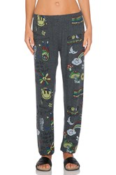 Lauren Moshi Good Vibes Tanzy Sweatpant Charcoal