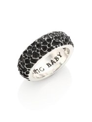 King Baby Studio Sterling Silver Lava Rock Textured Band Ring