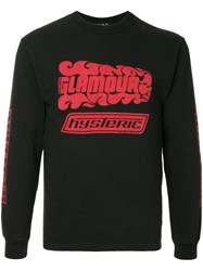 Hysteric Glamour Embroidered Sweatshirt Black
