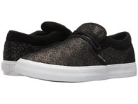 Supra Cuba Black Gold White Women's Skate Shoes
