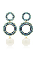 Joanna Laura Constantine Gold Plated And Pearl Earrings Multi