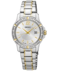 Seiko Women's Special Value Two Tone Stainless Steel Bracelet Watch 28Mm Sur718 Two Tone