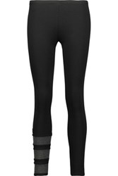 Y 3 Adidas Cotton And Wool Blend Leggings Black